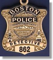 Boston Massachusetts Police Badge Charms