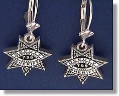 Sheriff Earrings #1