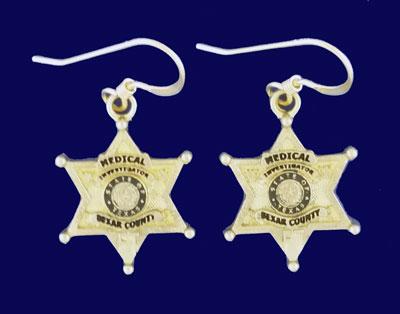 Medical Badge Earrings #4