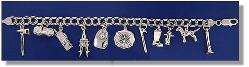 FD Charm Bracelet