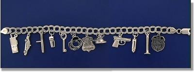 PD Charm Bracelet Silver