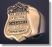 Police Badge Ring #8